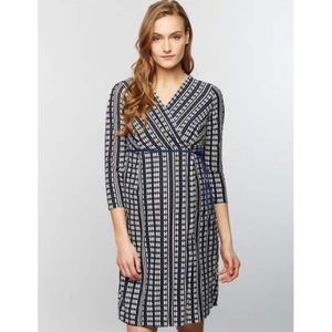 A Pea In The Pod Jacquard Printed Maternity Dress